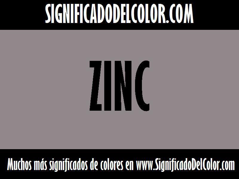 ¿Cual es el color Zinc?