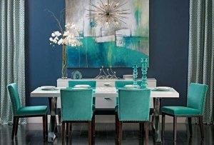 el diseño de interiores utiliza con asiduidad el color aguamarina