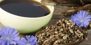 la achicoria es una bebida proveniente de la planta cichorium intybus que se utiliza como sustitutivo del café y que da nombre a este color