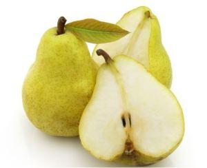 la fruta llamada pera da nombre a este color