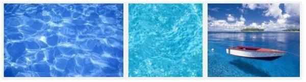 água cristalina e limpa
