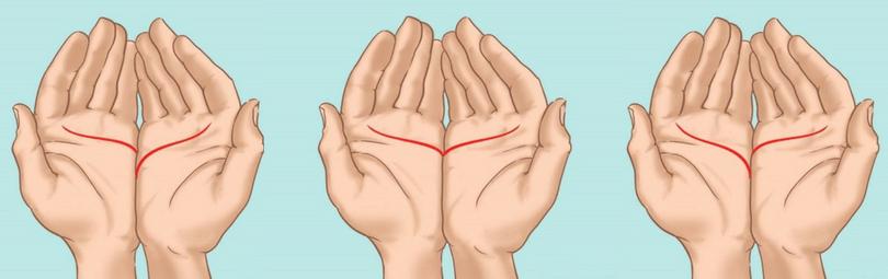 Junte suas palmas das mãos, observe como a linha do amor se forma e veja o que isso influencia em sua vida!