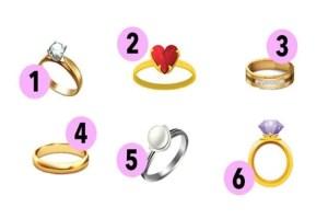 Escolha um anel e descubra que tipo de pessoa você é