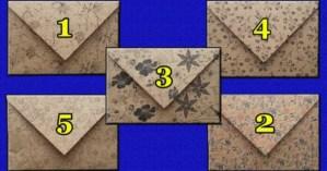 Uma carta para você: Escolha um envelope e receba uma mensagem do destino