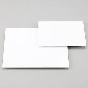 アルミ複合板 (アルポリック) 白 450×600×3.0 (角R) (892-32)