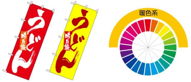 暖色系ののぼり旗