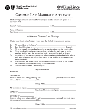Common Law Marriage Affidavit Fill Out And Sign Printable