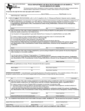 Dnr Form Texas Fill Out And Sign Printable Pdf Template