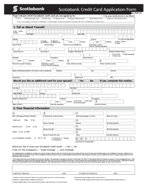 Credit Card Application Form Fill Out And Sign Printable