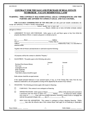 How To Write Land Agreement Fill Out And Sign Printable