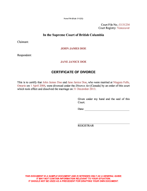 Divorce Bc Fill Out And Sign Printable Pdf Template Signnow