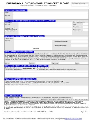 emergency lighting certificate fill out and sign printable pdf template signnow