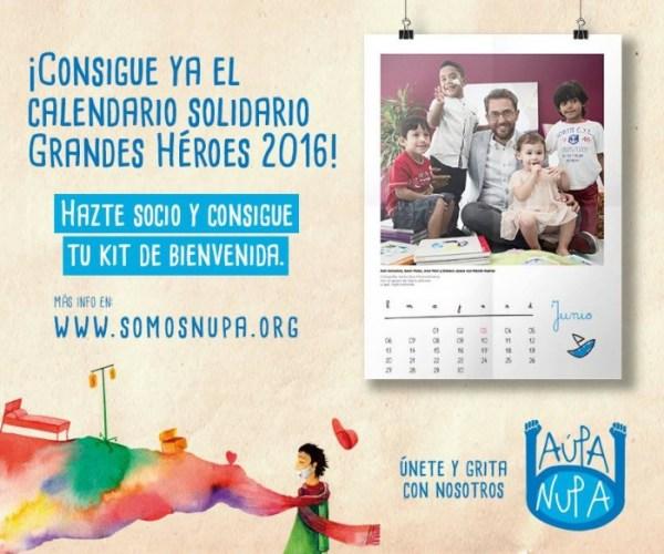 Calendario solidario Grandes Héroes 2016