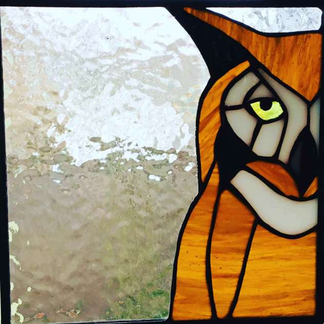 Donna Karl, Stained Glass, owl