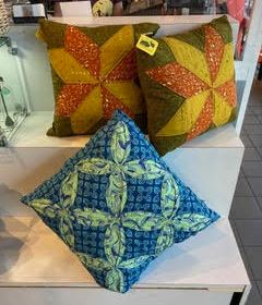 Quilted pillows - machine washable poly fiberfil - $40 - $55
