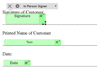 assigning tags for in-person signing