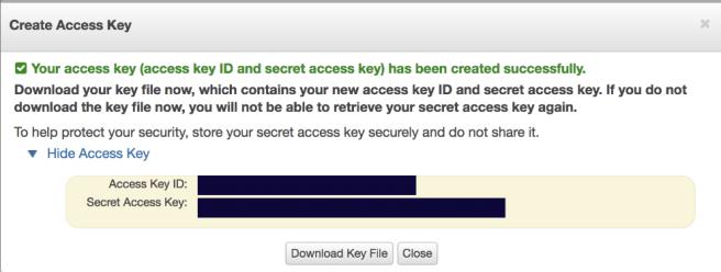 AWS Create new access key