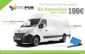 marquage kit autocollant publicitaire