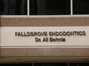Fallsgrove Endodontics channel letter