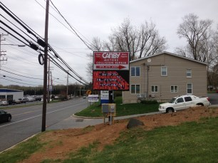 Canby Motor pylon sign with message center