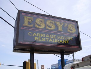 Essy's restaurant neon pylon sign