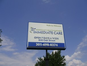 Monocacy Health pylon sign