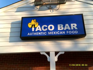 Taco Bar Aluminum Cabinet Signs