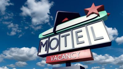Vintage sign of a motel