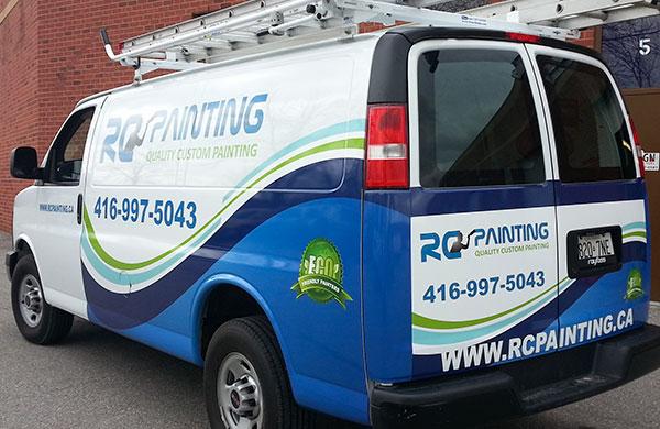custom vinyl wrapped van