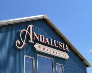 Andalusia Whiskey Company Building Sign
