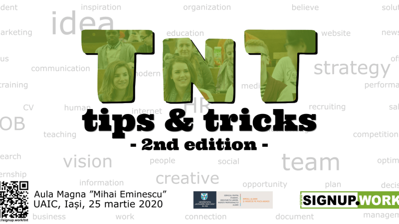 afis eveniment TnT - tips and tricks 2nd edition