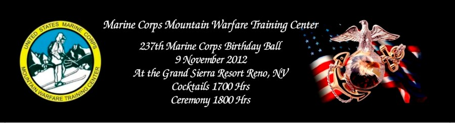 Marine Corps Ball Tickets Designed by Sign-Ups and Banners Corp.