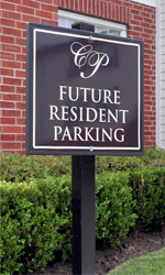 future resdent parking sign