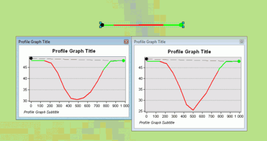 profil d'un cours d'eau après DEM Reconditioning