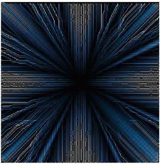 résultat de l'exemple d'écoulement avec la méthode D8