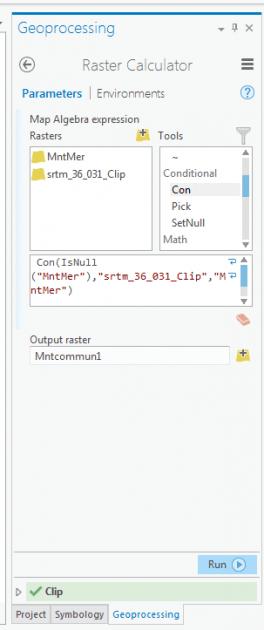 formule de calcul du raster calculator