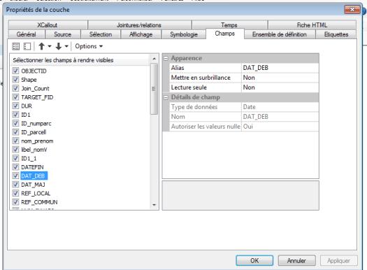 modifier un champ dans arcgis 10.3
