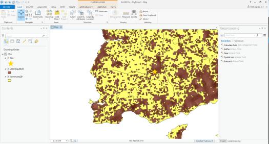 données de base pour l'exemple de model builder dans arcgis pro