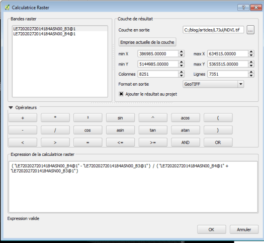 calculatrice raster de qgis 2.8