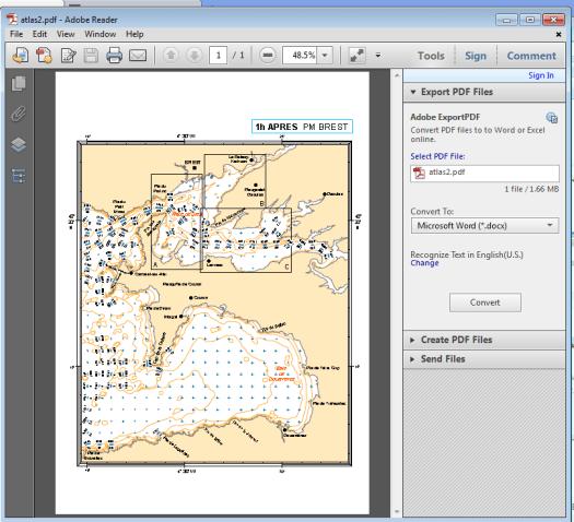 ouverture d'un document géographique pdf avec adobe acrobat