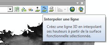 Bouton interpolker une ligne 3D de 3D Analyst