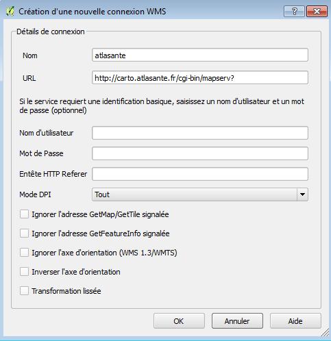 qgis configuration connexion wms