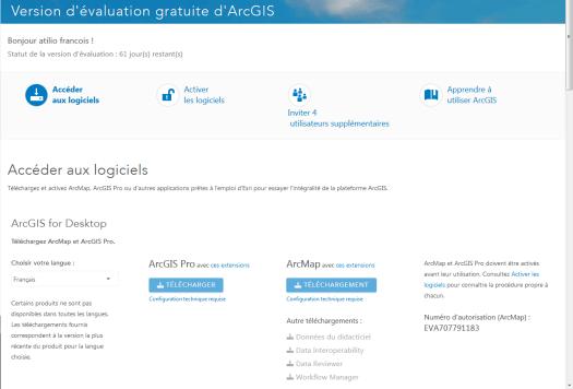 telechargement arcgis pro 1.0 français
