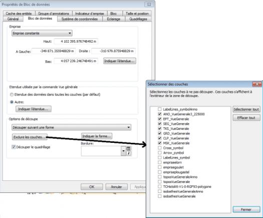 Gestion du bloc de données dans Arcmap