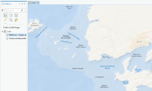 fond de carte océans et bathymétrie