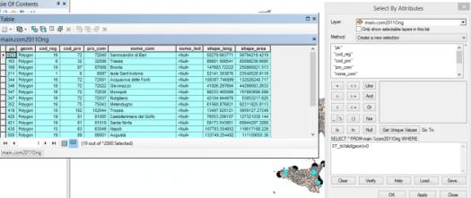 requête st-isvalid avec sélection par attributs dans arcmap