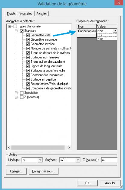 configuration de la correction automatique