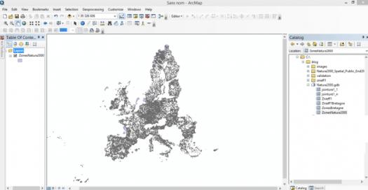 geodatabse fichier exemple avec les zones natura 2000