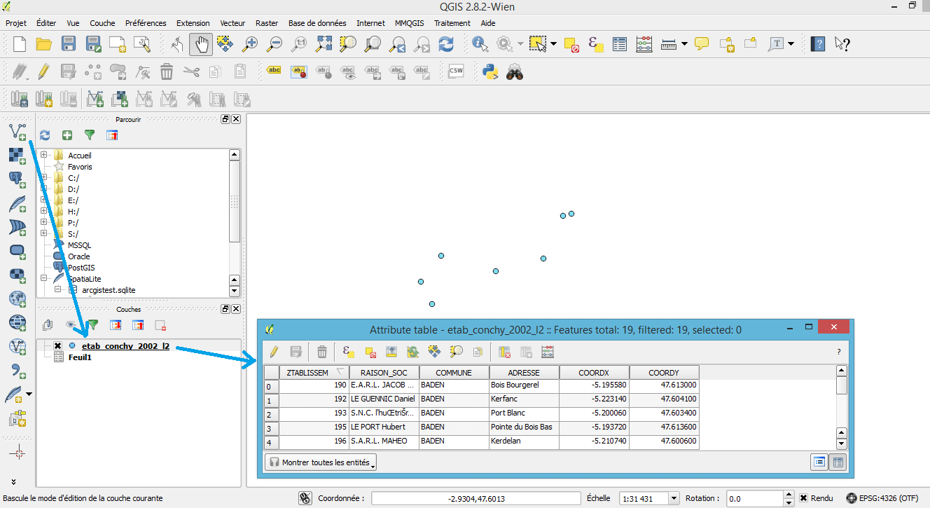 QGis: joins with Excel tables | Blog GIS & Territories