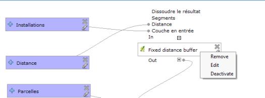 menu contextuel des algorithmes dans la fenêtre graphique du modeleur